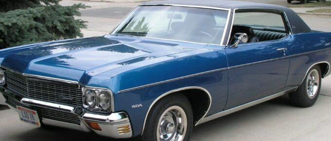 Blue 1970 Chevrolet Impala